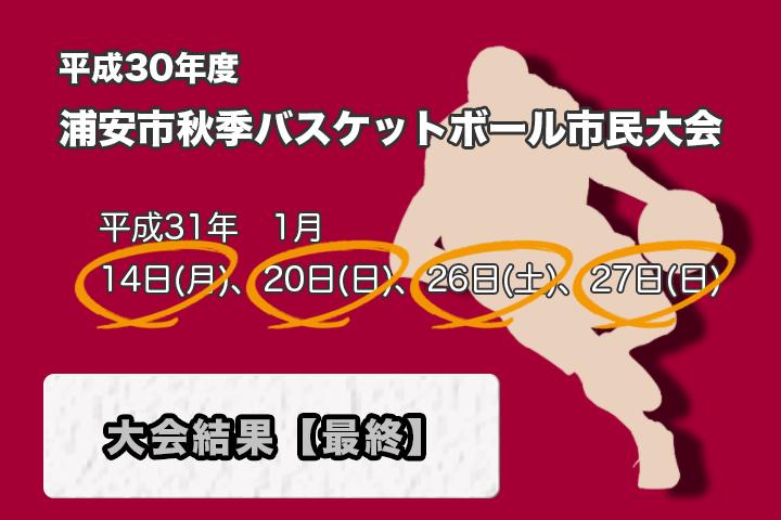 平成30年度 秋季市民大会 大会結果【最終】