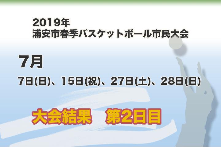 令和元年 浦安市春季市民大会 大会結果【第2日目】