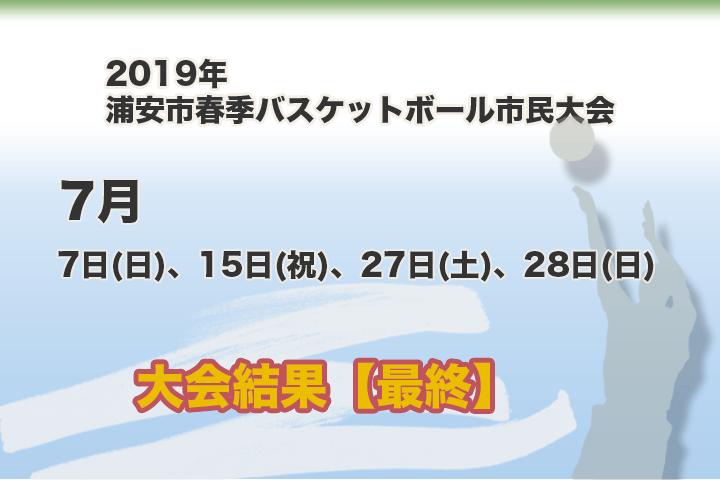 令和元年 浦安市春季市民大会 大会結果【最終結果】